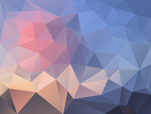 Vector irregular polygon background with a triangle pattern in pastel pink and blue color - daybreak Royalty Free Stock Images