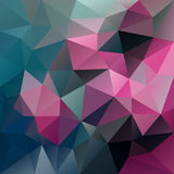 Vector irregular polygon background with a triangle pattern in vibrant blue ant hot pink color. Vector abstract irregular polygon background with a triangle Royalty Free Stock Images
