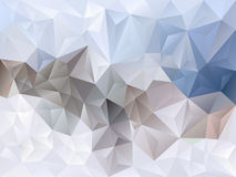 Vector irregular polygon background with a triangle pattern in winter light blue, gray and brown color Royalty Free Stock Images