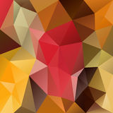 Vector irregular polygon background with a triangular pattern in autumn colors - brown, red, yellow, green. Vector abstract irregular polygon background with a Stock Illustration