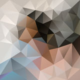 Vector irregular polygon background with a triangular pattern in light beige, blue and gray colors Stock Images