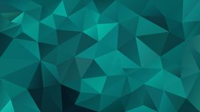 Vector irregular polygonal background - triangle low poly pattern - blue, green, aqua, teal color vector illustration