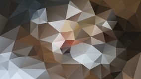 Vector irregular polygonal background - triangle low poly pattern - brown, beige, gray, indian red, rusty, ochre, sand, t. Vector abstract irregular polygonal royalty free illustration