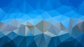 Vector irregular polygonal background - triangle low poly pattern - light sky and dark gray color. Vector abstract irregular polygonal background - triangle low royalty free illustration