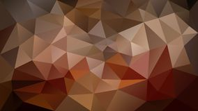 Vector irregular polygonal background - triangle low poly pattern - warm brown, gold, indian red, rusty, taupe, mauve, ta. Vector abstract irregular polygonal Royalty Free Illustration
