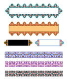 Vector Islamic Art Banners. Traditional Middle Eastern Colorful Vector Islamic Ornaments Banners Royalty Free Stock Photos