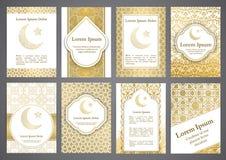Vector islamic ethnic invitation design or background Royalty Free Stock Photo