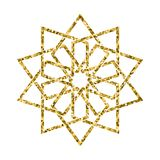 Vector islamic golden pattern Stock Photography