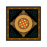 Vector Islamic Ramadan Dark Ornaments. Traditional Vector Islamic Ramadan Dark Colorful Festive Ornaments Royalty Free Stock Images