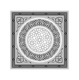Vector Islamic Ramadan Ornaments Grayscale. Traditional Vector Islamic Ramadan Grayscale Festive Ornaments Stock Images