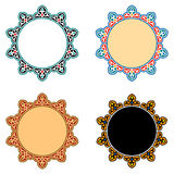 Vector Islamic Star Ornaments Royalty Free Stock Photography