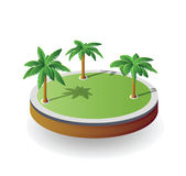Vector island Stock Images