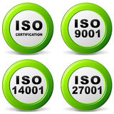 Vector iso certification icon Royalty Free Stock Photography