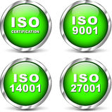 Vector iso certification icons Stock Photo