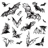 Vector isolated bats Stock Images
