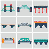 Vector isolated bridges big icons set Stock Images