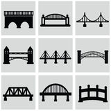 Vector isolated bridges big icons set Royalty Free Stock Images