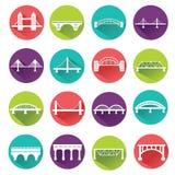 Vector isolated bridges big icons set Royalty Free Stock Photography