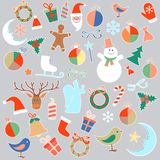 Vector isolated Christmas toys and objects Stock Image