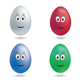 Vector Isolated Color Easter Eggs. Vector Isolated Color Easter Egg figures Stock Images