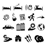 Vector isolated concept of human life icons Stock Photos