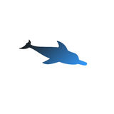 Vector isolated dolphin with nice gradient Royalty Free Stock Image