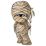 Vector isolated illustration of a merry mummy for Halloween. On isolated white background royalty free illustration
