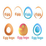 Vector isolated illustration. The symbolic representations of eggs. Variations of the logo for your business. Stock Photo