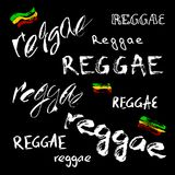 Vector isolated lettering poster in reggae style. Modern lettering poster in reggae style. Vector isolated typography for your design Stock Photo