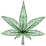 Marijuana leaf Stock Image