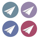 Vector isolated plane icons set Royalty Free Stock Photography