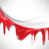 Vector isolated red ink flowing background Stock Images