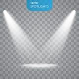 Vector Isolated Spotlight Royalty Free Stock Photography
