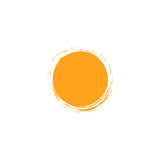 Vector isolated sun logo design template. Abstract dots symbol. Round unusual shape. Stock Images