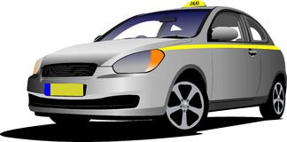 Vector isolated taxi Royalty Free Stock Photography