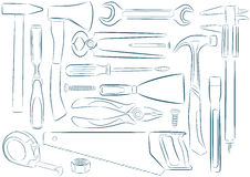 Vector isolated tools Royalty Free Stock Photos