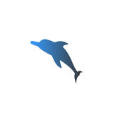 Vector isolated upward facing dolphin with nice gradient Stock Photo