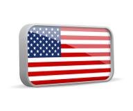 Vector isolated USA flag sign. Reaslistic USA flag symbol Royalty Free Stock Image