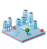 Vector isometric. Fantasy on the theme of urban stock illustration