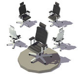 Vector isometric Adjustable Armchair. Isometric low poly Adjustable Armchair. Vector low poly illustration Stock Image