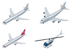 Vector isometric airplanes Royalty Free Stock Images