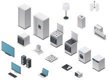 Vector Isometric Appliances Set Stock Photo
