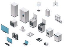 Vector isometric appliances set Stock Photo
