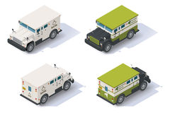 Vector isometric armored truck Stock Photography