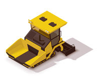 Vector isometric asphalt paver. Isometric icon representing paving machine Stock Photos