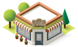Vector isometric bakery Stock Photo