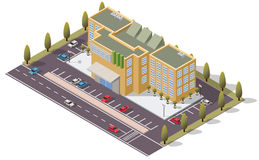 Vector Isometric Bank Government Building. For map Stock Photography