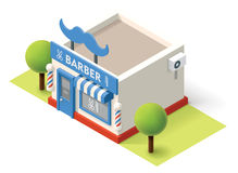 Vector isometric barbershop. Building icon Royalty Free Stock Photos