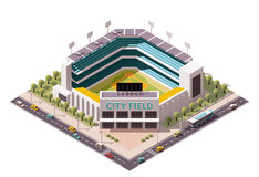 Vector isometric baseball arena Royalty Free Stock Photos