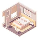 Vector isometric bedroom stock photography